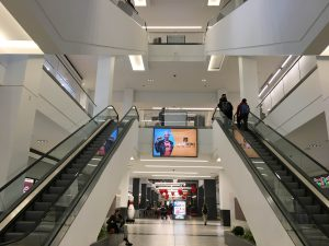 The new Fashion District, located at 9th and Market, opened on September 19th, 2019 with multiple floors of up to 55+ stores to shop in with many more stores to open soon.