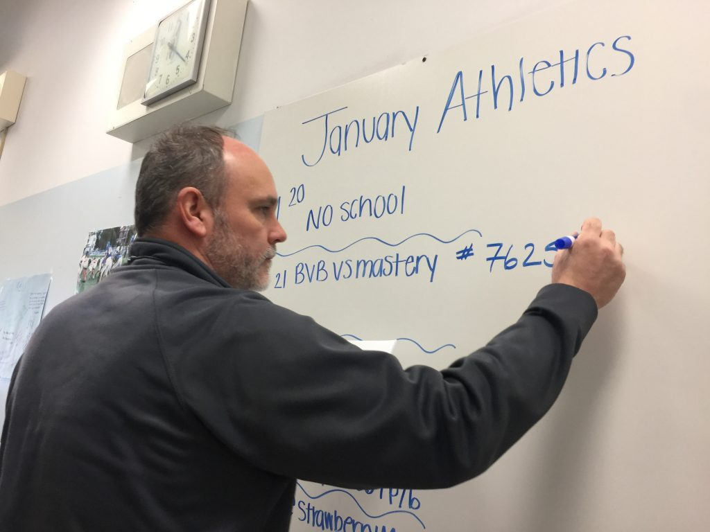 Franklin Learning Center's Health and Physical Education teacher as well as sports coach Mr. Kelly, was encouraged as a kid to stay focused on his education and encouraged by his father to get into sports.